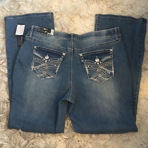 NWT APT 9 Studded Bling Bootcut Jeans SZ 16W